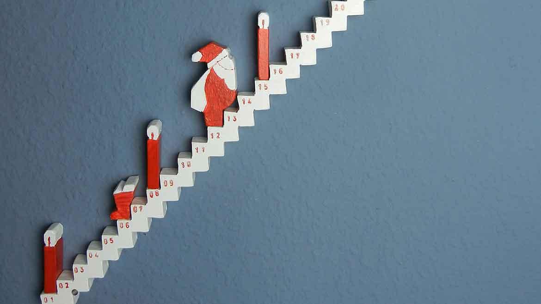 Adventskalender Treppe basteln